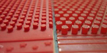 gomas de tenis de mesa de picos medio-largos