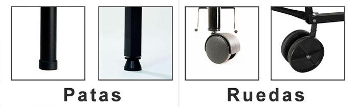 Mesas ping pong interior ping pong plus for Patas con ruedas